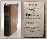 Herzog Versuche einer charakteristischen Moral Sittenlehre 1785 Religion xz
