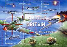 Grenada 2000 MNH WWII Battle of Britain 60 6v M/S II Supermarine Spitfire Stamps
