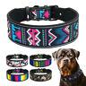 Hundehalsband 5 cm Breit Nylon Verstellbar Halsband für große Hunde Pitbull SM L