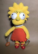 "Applause The simpsons Lisa Simpson 12"" Plush w/Tags Attached."