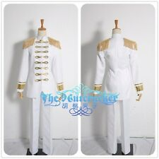 Attack On Titan Levi Rivaille Cosplay Costume White Military Uniform  H002