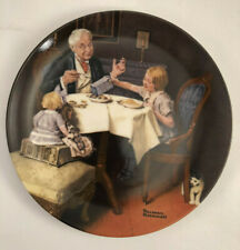 """Knowles Norman Rockwell Collector Plate """"The Gourmet"""" with Coa and Original Box"""