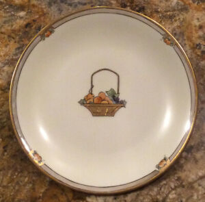 Vintage Plate Made In France Gold Overlay