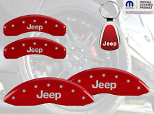 2011-16 Jeep Grand Cherokee Red Brake Caliper Cover Front Rear Keychain INSTOCK