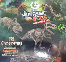 GEOWORLD JURASSIC EGGS ASSEMBLY SET - Complete Collection of 12 DINOSAURS
