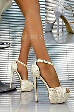Espectaculares zapatos de fiesta,Zapatos de tacón,nuevos  - tallas - 35-40