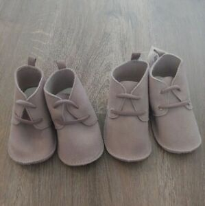 Baby Gap Suede Booties Bundle of 2 Booties For sizes 6-18 Months FAST TO SHIP