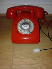 GPO STYLE RED PHONE PLUG IN UK WORKING NICE RING 3 DAY SALE ONLY XMAS