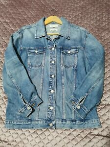 Madewell Denim Jacket XL Oversize Fit Blue Washed 100% Cotton Mint Condition