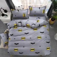 Batman Kids Bedding Duvet Cover Set Pillow Case Cartoon Twin Full Queen King Bed