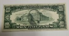 1969 $10 FEDERAL RESERVE  NOTE MASSIVE OVERPRINT FRONT TO BACK