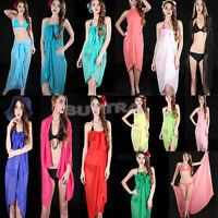 Economic  Women's Chiffon Wrap Pareo Sarong Dress Beach Bikini Swimwear Top HGUK