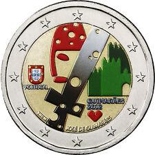 Portugal 2 Euro Gedenkmünze 2012 bfr. Kulturhauptstadt Guimaraes in Farbe