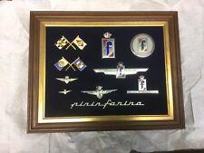 ITALIAN Enameled  Badge Emblem Collection   10 badges in frame...(Ref.89)