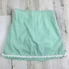Bailey Boys Green Seersucker Girls Skort Skirt Sz 10