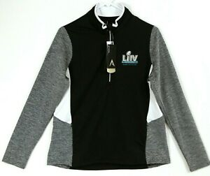 Super Bowl LIV Miami FL 1/4 Zip Pullover Jacket Women L-XL Kansas City Chiefs