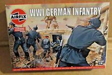 AIRFIX WW1 GERMAN INFANTRY 1:76 SCALE MODEL SOLDIERS UNPAINTED PLASTIC