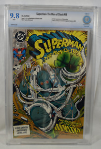 Superman The Man Of Steel #18 CBCS Graded 9.8 white pages First Doomsday