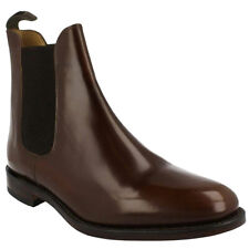 Loake 290 Leather Gusseted Formal Work Slip-On Ankle Mens Boots