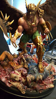 DC HAWKMAN Premium Format statue diorama Nt Sideshow - 3D Sculpt custom New MINT