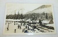 Real Photo Postcard Snoqualmie Pass Winter Washington
