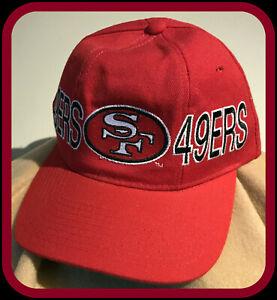 VINTAGE SAN FRANCISCO 49ERS STARTER THE NATURAL ADULT SNAPBACK ONE SIZE CAP