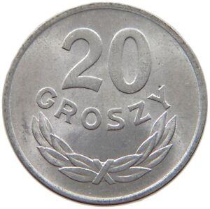 POLAND 20 GROSZY 1949 TOP ALUMINIUM #s69 627