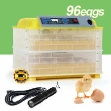 110V 96 Digital Egg Incubator Hatcher Automatic Egg Turning Temperature Control