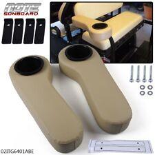 Rear Seat Arm Rest Cushion Cup Holder Beige For Ezgo/Club Car/Yamaha Golf Cart
