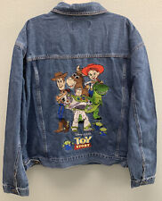 Disney Store Toy Story Embroidered Adult Xl Denim Western Jacket~Woody Buzz