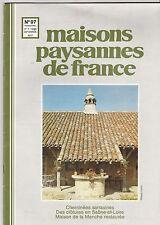 Maisons paysannes de France 1990 N°97 CHEMINEES SARRASINES CLOTURES RURALES