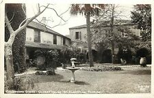 RPPC Postcard Oldest house courtyard in St. Augsutine FL 2 d 195 Cure Photo