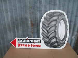 Vintage Firestone Tractor Tyre Enamel Sign  Massey Ferguson,Fordson,David Brown