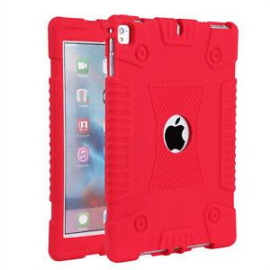 iPad 5th / 6th Generation 9.7 Shockproof Slim Soft Case + Tempered Glass Film