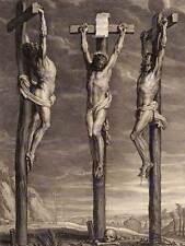 Cristo Crucificado Bolswert Rubens flamenca dos ladrones Arte Pintura Poster BB5020B