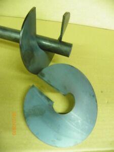 Schneckenflügel Schneckenblech für 30 mm Wellen Förderschnecke Bohrschnecke