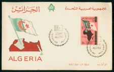 MayfairStamps Algeria 1962 Flag and Map First Day Cover WWH42171