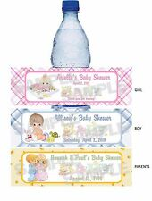 BOY GIRL PARENT COUPLE PRECIOUS MOMENTS BABY SHOWER water bottle label wrappers