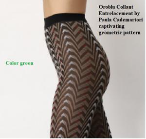 Oroblu Collant Entrelacement by Paula Cademartori captivating geometric pattern