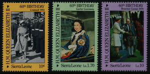 Sierra Leone 760-2 MNH Queen Elizabeth 60th Birthday