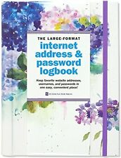 Hydrangeas Large-Format Internet Address & Password Logbook (Hardcover)