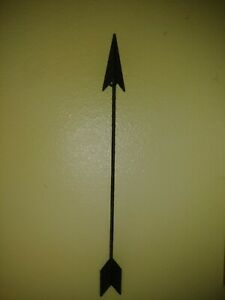 Decrative Metal Arrow Dark Brown Rustic Steampunk Boho Industrial Farmhouse