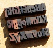 A Z Mixed Alphabet 106 Letterpress Wooden Printing Blocks Type Printer Vintage