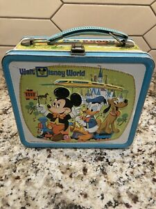 "Vintage 1970's Aladdin ""Walt Disney World"" Metal Lunch Box."