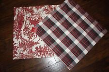 NEW Pottery Barn Christmas ALPINE TOILE PILLOW COVER RED,  With Tags 2 available