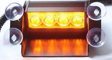 4 LED Car Strobe Warning Visor Truck Emergency Flashing Windshield Light Amber
