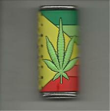 RASTA COLORS WITH GREEN MARIJUANA LEAF BIC LIGHTER CASE REGULAR SIZE