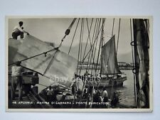 APUANIA MARINA DI CARRARA ponte porto nave ship Massa vecchia cartolina