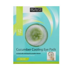 Cucumber Cooling Eye Pads x12 Beauty Formulas For Tired Eyes With Aloe Vera NEW