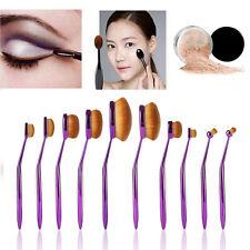 10Pcs Pro Purple Makeup Brushes Lip Eyeshadow Foundation Brush Cosmetics Tools H